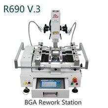 Новая версия LY R690 V3 паяльная станция BGA Паяльные станции 3 зоны горячего воздуха сенсорный экран с лазерной точкой 4300 Вт ЕС вилка
