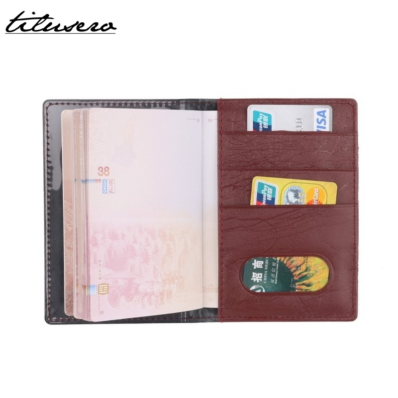 RFID PU Leather Passport Cover Holder Protector Business Card Soft Passport Cover Bag Minimalist Passport Sleeve F055