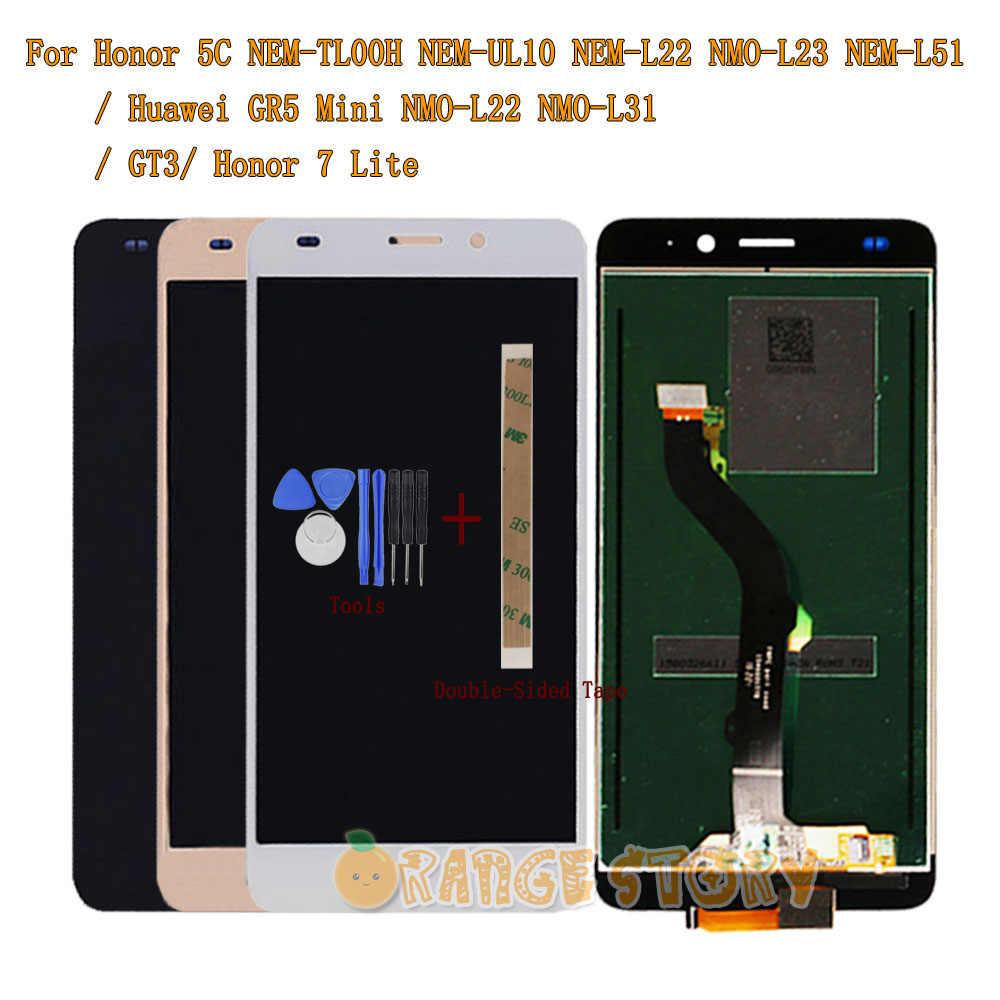 Новый ЖК-дисплей монитор сенсорный датчик экрана в сборе для huawei Honor 5C/GT3/GR5 мини NMO-L22 NMO-L31/Honor 7 Lite + Инструменты