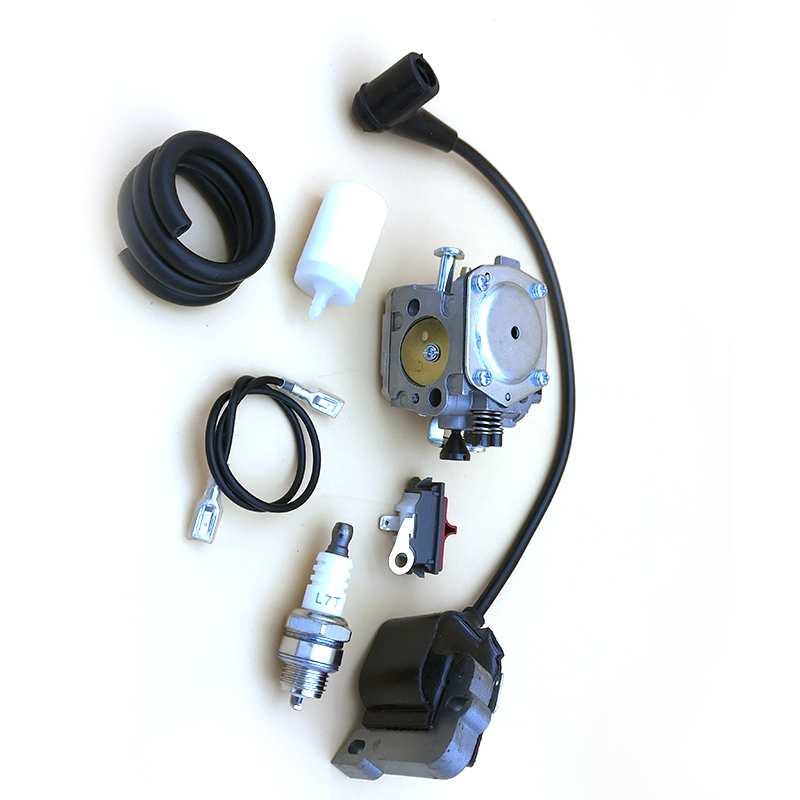 Tools : Carburetor Ignition Coil Fuel Filter Line Kit For Husqvarna 268 272 272XP 61 266 Chainsaw  5032803-16   5039014-01 Spark Plug