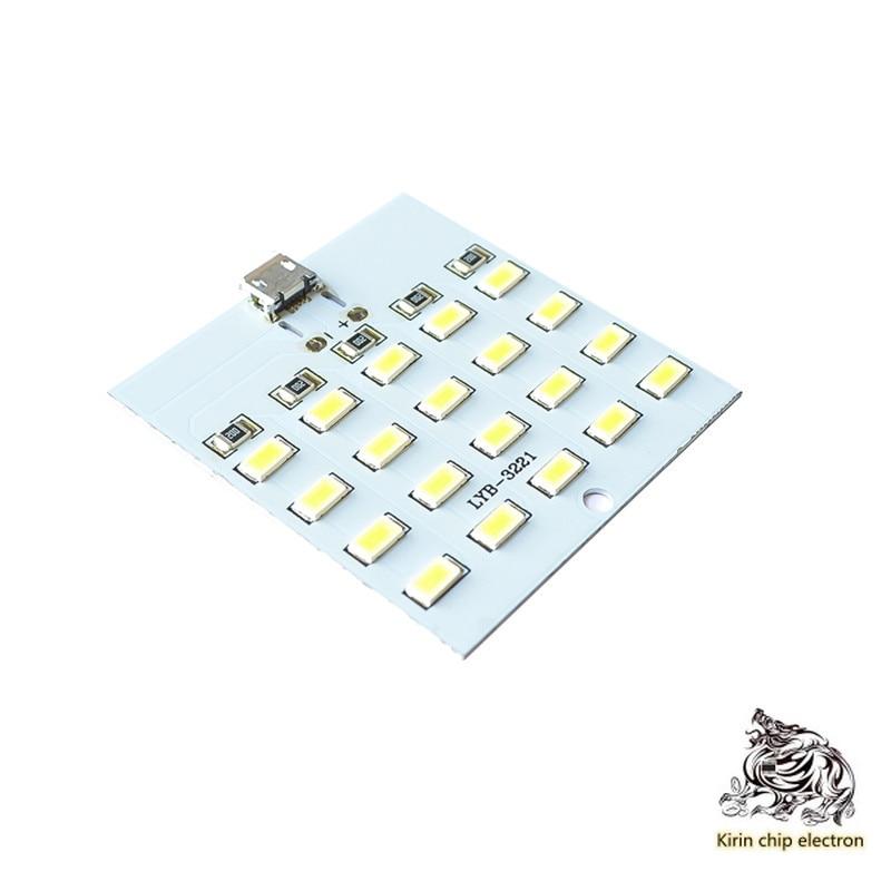 5pcs / Lot 20 Lamp Bead LED Lamp Board USB Mobile Lamp Floor Stand Lamp Emergency Light Small Night Lamp