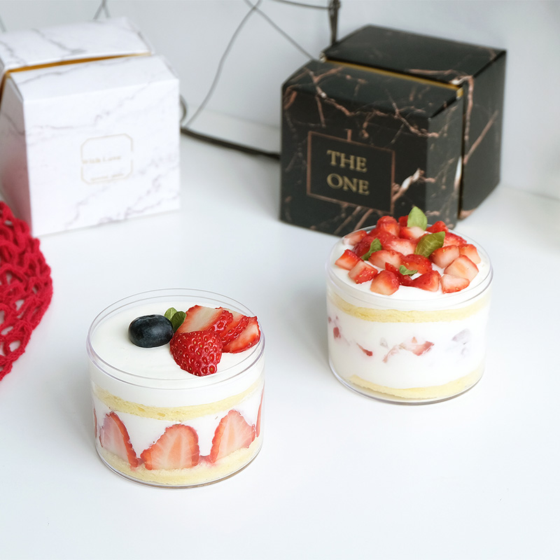 10pcs High Quality Net Red Mousse Dessert Cups Small Cake Transparent Cheesecake Ice Cream Pudding Yogurt Jar Baking Package Box