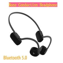 Fones de ouvido bluetooth 5.0 condução óssea fones de ouvido sem fio esportes handsfree venda quente novo