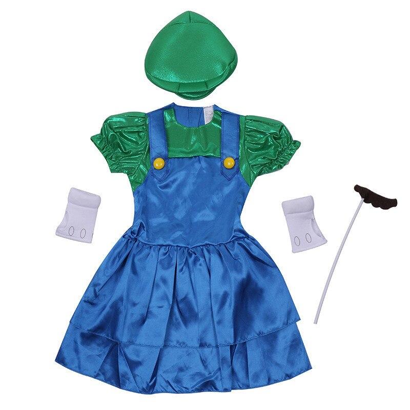 Le ragazze Perdere Mario Fancy Dress Cosplay Costumi Childs Fantasia Giochi Per Bambini Super Mario Gioco A Tema di Halloween di Carnevale Del Partito Dress-up