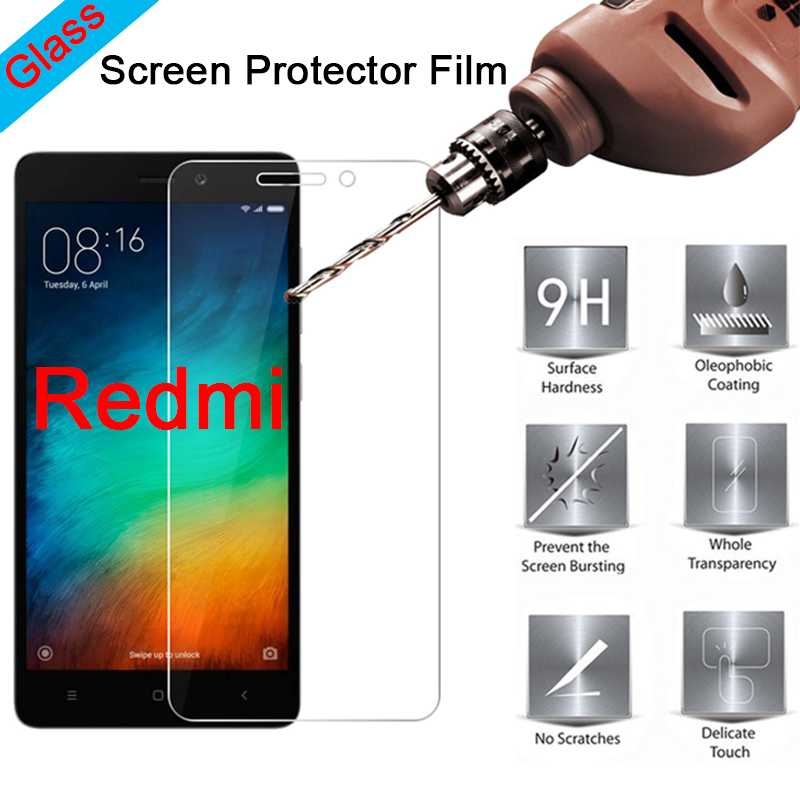 9H Protective Glass For Xiaomi Redmi 6A 5A Screen Protector For Xiaomi Redmi 4X 4A Tempered Glass On Redmi 4 Prime 3 Pro 2 3X 3S