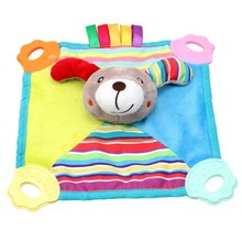 Baby Infant Animal Soothe Appease Towel Soft Plush Comforting Toy Pacify Towel Grasping Rattles Towel Soothing Baby Plush Toys(China)