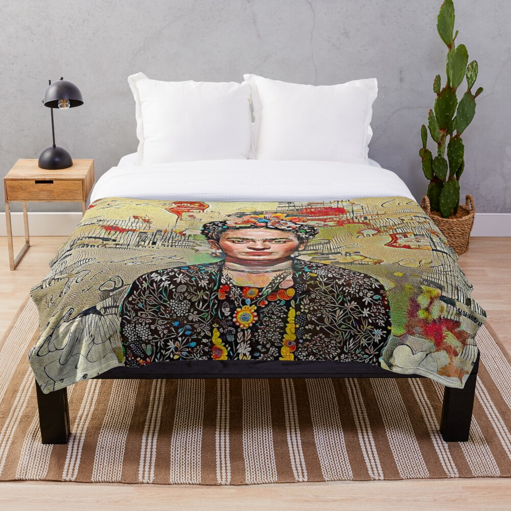 Nostalgic Frida Throw Blanket Soft Sherpa Blanket Bed Sheet Single Knee Blanket Office Nap Blanket