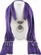 Scarf of Foreign Trade Jewelry Ring Resin Hanging European and American Hot Selling Ladies Shawl