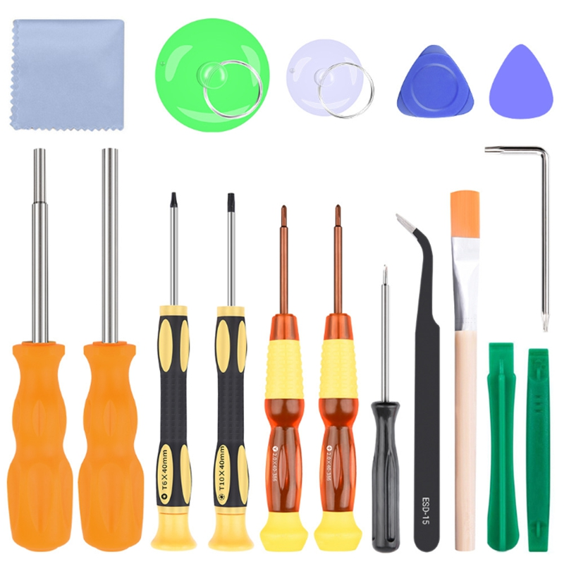 Triwing Screwdriver,17 In 1 Professional Full Security Screwdriver Game Bit Repair Tool Kit Full Security For Switch Joycon Wii