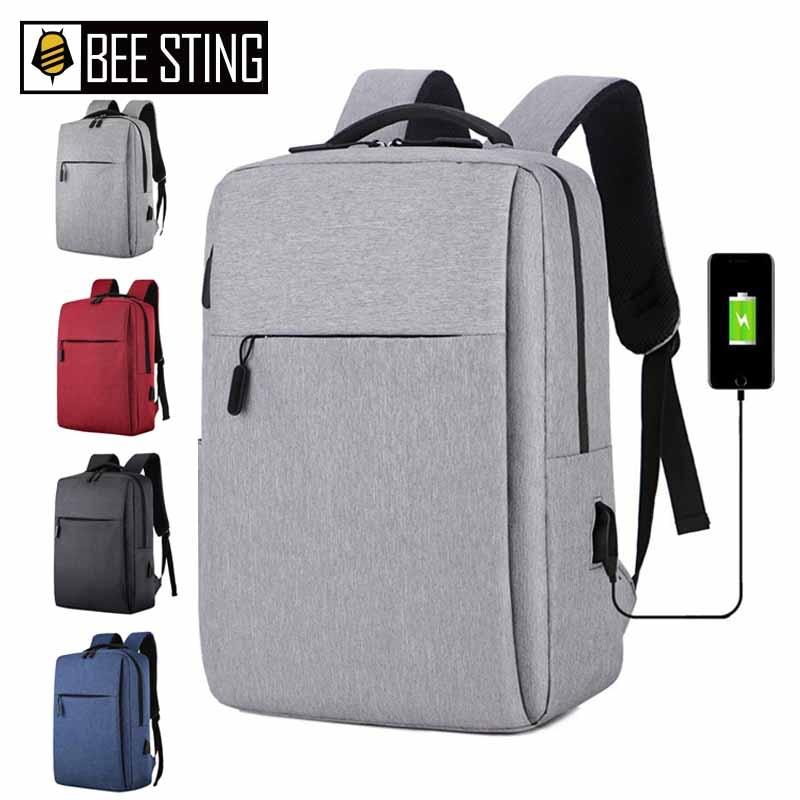 Bolsa para laptop de 17 polegadas portátil anti-roubo bolsa escolar mochila masculina de viagem casual com carregamento USB 1