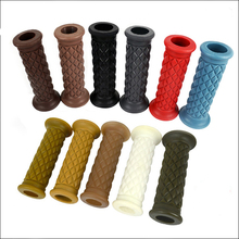 Universal 2 Pcs Motorcycle Handlebar Grip Gel Brake Handle Rubber For 7/8 22mm Motorbike Retro Colorful Decal Decration