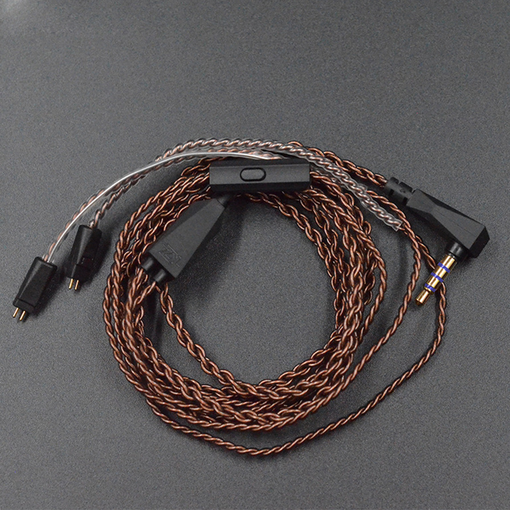 L Plug Replacement Earphones <font><b>Cable</b></font> Stable Practical Upgrade Durable Plated Audio Copper Wire Dedicated <font><b>0.75mm</b></font> <font><b>2</b></font> <font><b>Pin</b></font> For KZ ZS5 6 image