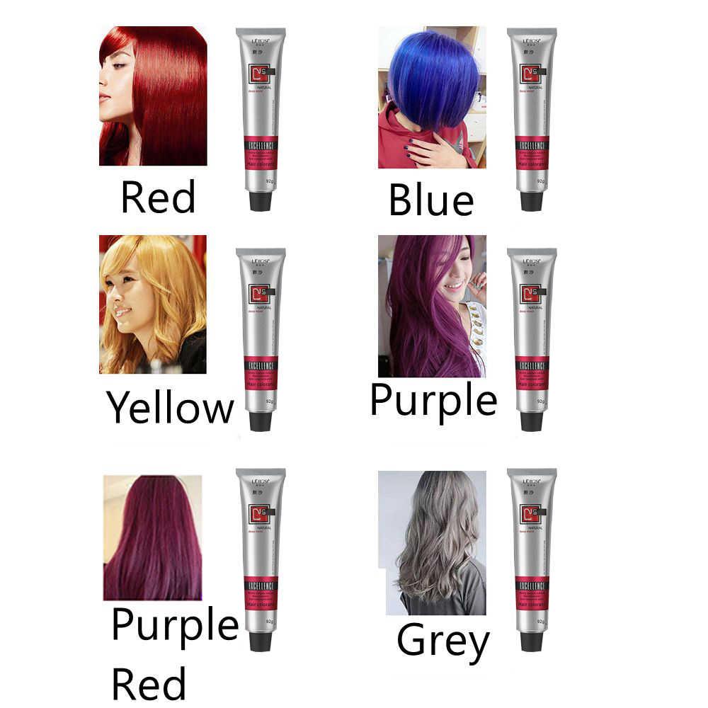 50/92ミリリットル染毛剤色合い半永久着色クリーム6色ヘアケアスタイリングツールの女性/男性ファッションやすい自然な使用
