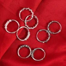 1 пара винтажных круглых сережек для женщин и девочек простые