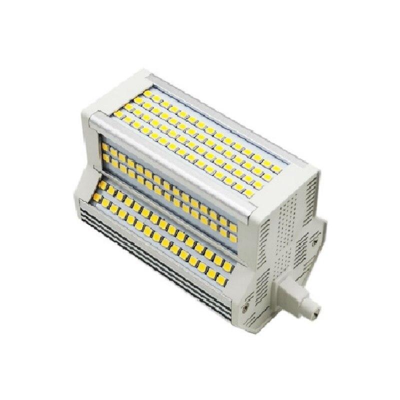 Большой мощности 50 Вт светодиодный R7S светодиодный светильник 118 мм 30w светодиоидная лампа с регулируемой яркостью RX7S лампа J118 трубки светил...