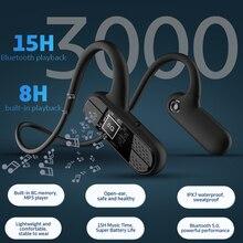 سماعة لاسلكية تعمل بالبلوتوث 5.0 سماعات التوصيل العظام سماعة الرياضة سماعة مع ميكروفون 8G ذاكرة IPX7 سماعات مقاومة للماء