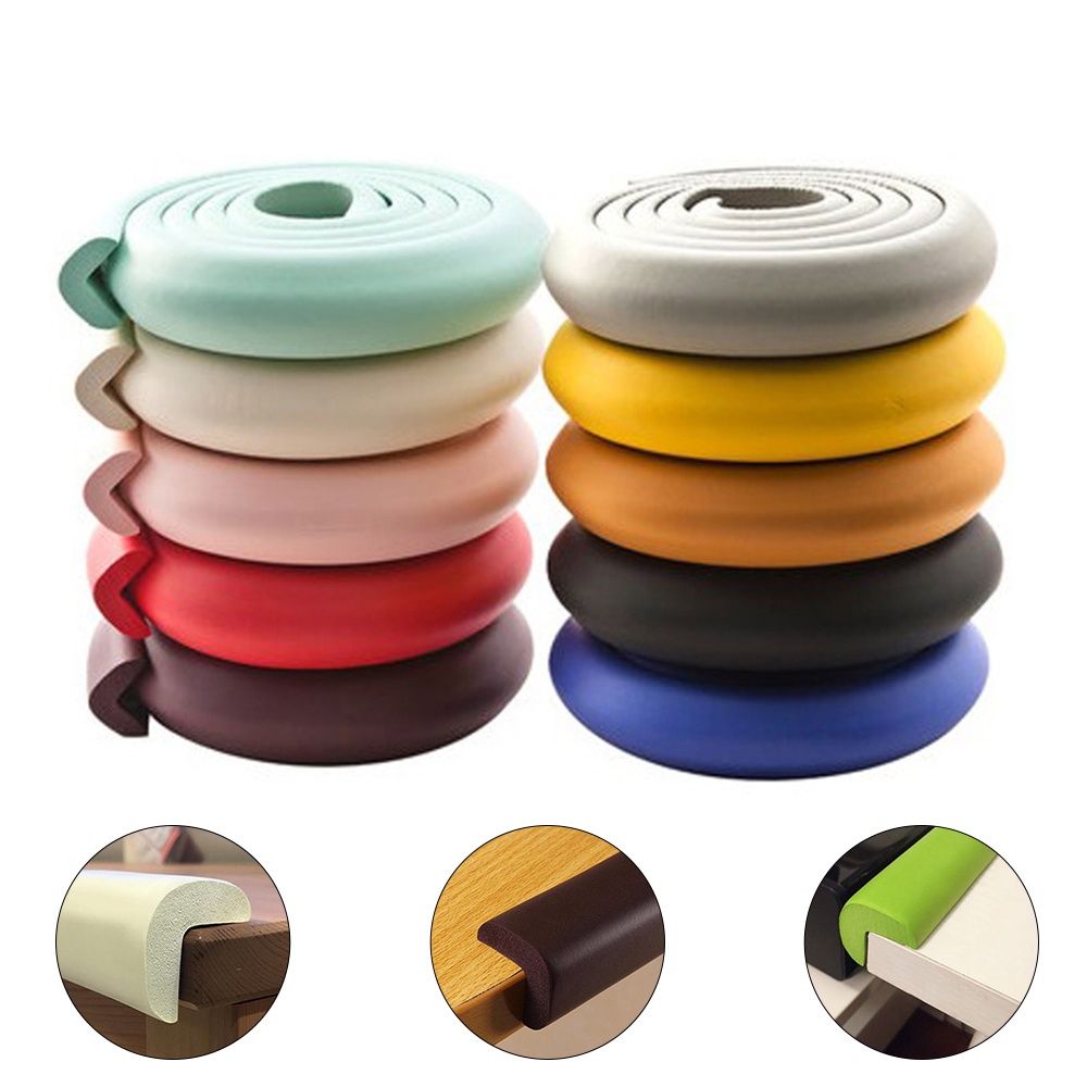 2M Table Corner Protector Child Safety Table Protector Coloful Baby Proof Children Protection Desk Corner Cover Soft Edge Guard