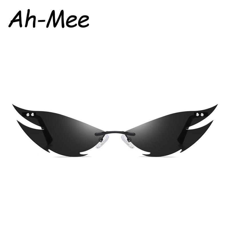 New Rimless Sunglasses Women Fashion Vintage Unique Cat Eye Steampunk Sun Glasses Female Gafas Sharp Shape Shades UV400