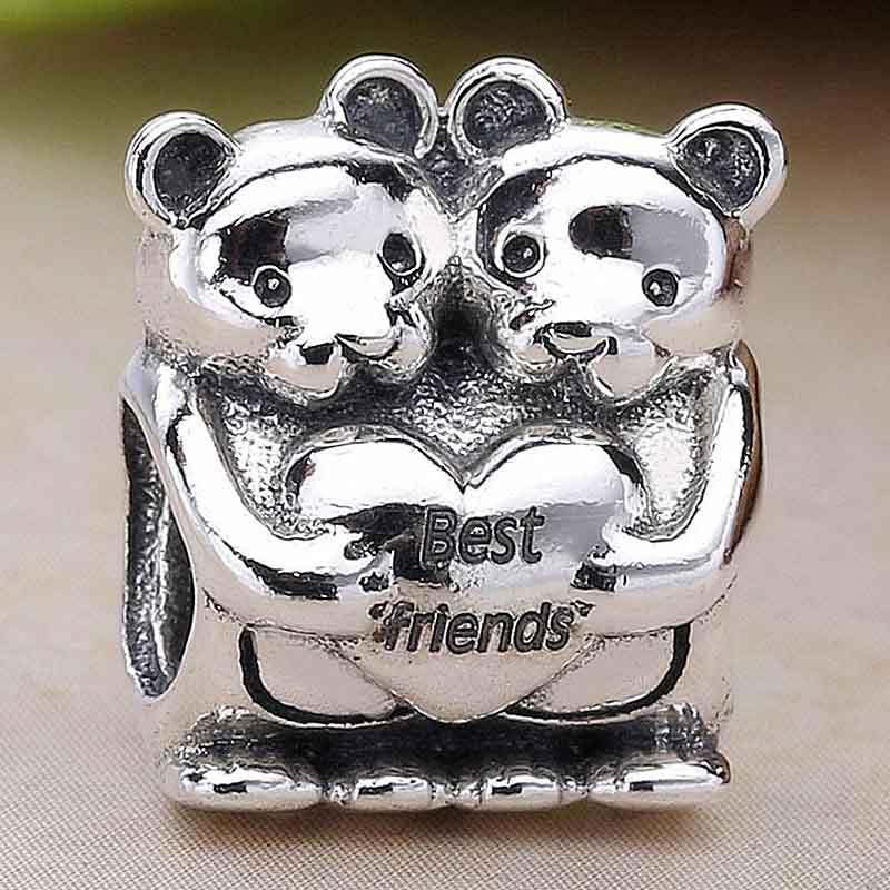 Sterling Silver Teddy Bear Bead Charm