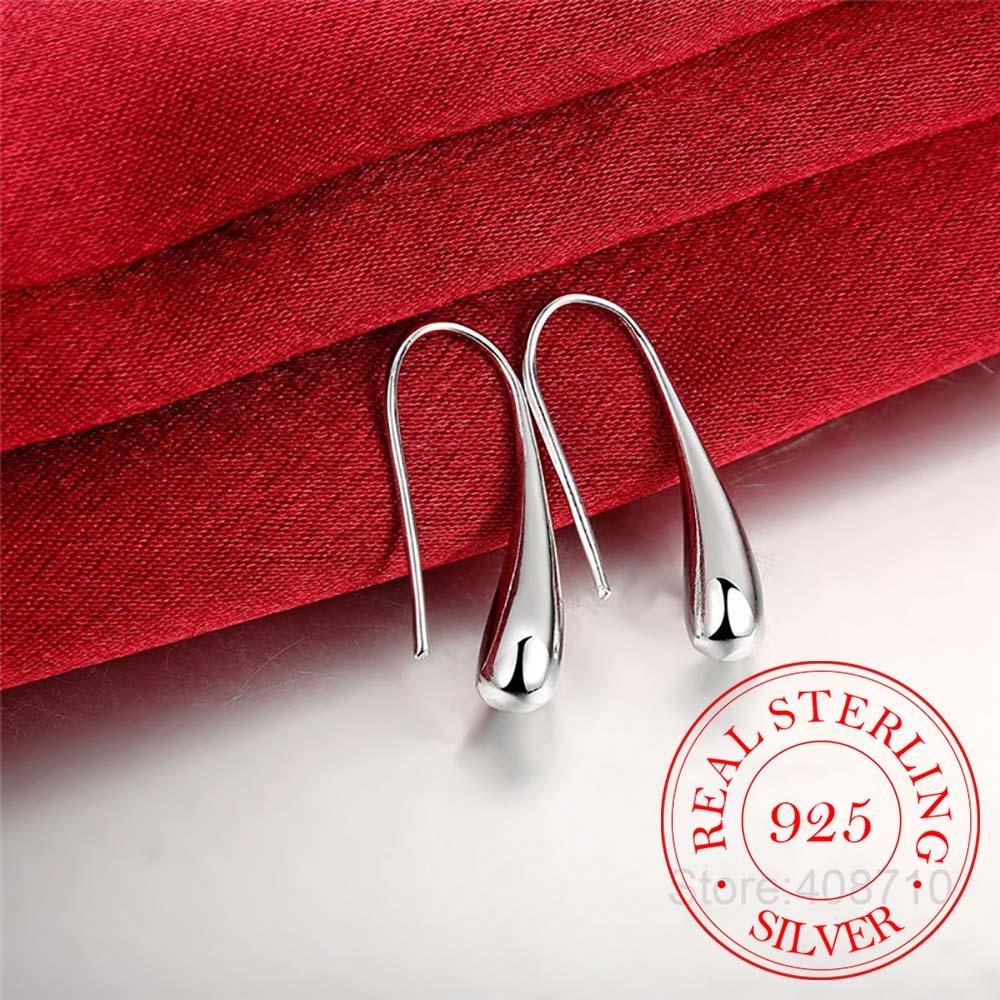 Hot Sale 925 Sterling Silver Teardrop/Waterdrop/Raindrop Dangle Korean Earrings for Women 2020 Wedding Party Gift