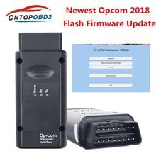 Op com v1.99 1.95 mais novo firmware opcom 2018 pic18f458 ftdi ft232rl chip para opel carro até 2018 obd2 scanner de diagnóstico can-bus