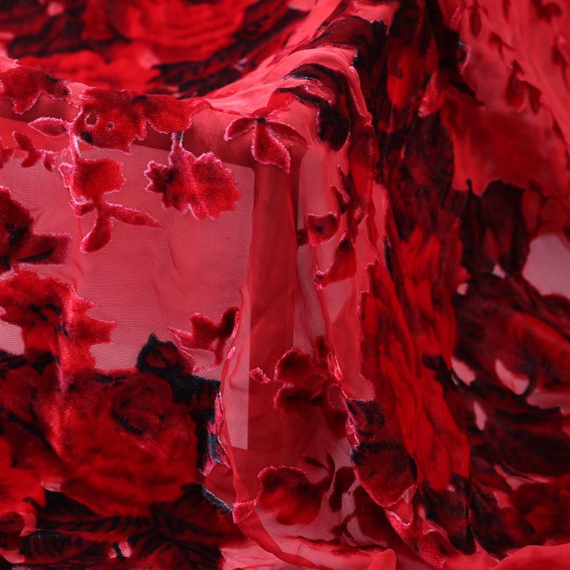 Customized Autumn New Products Hollow Silk Rotten Flower Velvet Fabric Soft Silk Velvet Clothing Cheongsam Silk Fabric