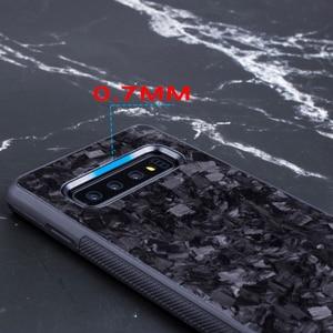 Image 3 - אמיתי מזויף פחמן סיבי מקרה עבור סמסונג S10 S10E חזרה כיסוי תבנית יוקרה עבור Samsung Galaxy S10 בתוספת נייד טלפון מקרה