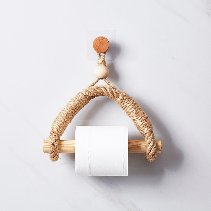 Vintage Towel Hanging Rope Toilet Paper Holder Home Hotel Bathroom Decoration Supplies Paper Towel Holder  Toilet Paper Stand
