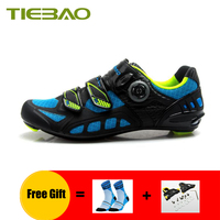 TIEBAO men women carbon fiber road cycling shoes breathable self locking zapatillas ciclismo bicycle riding road bike sneakers
