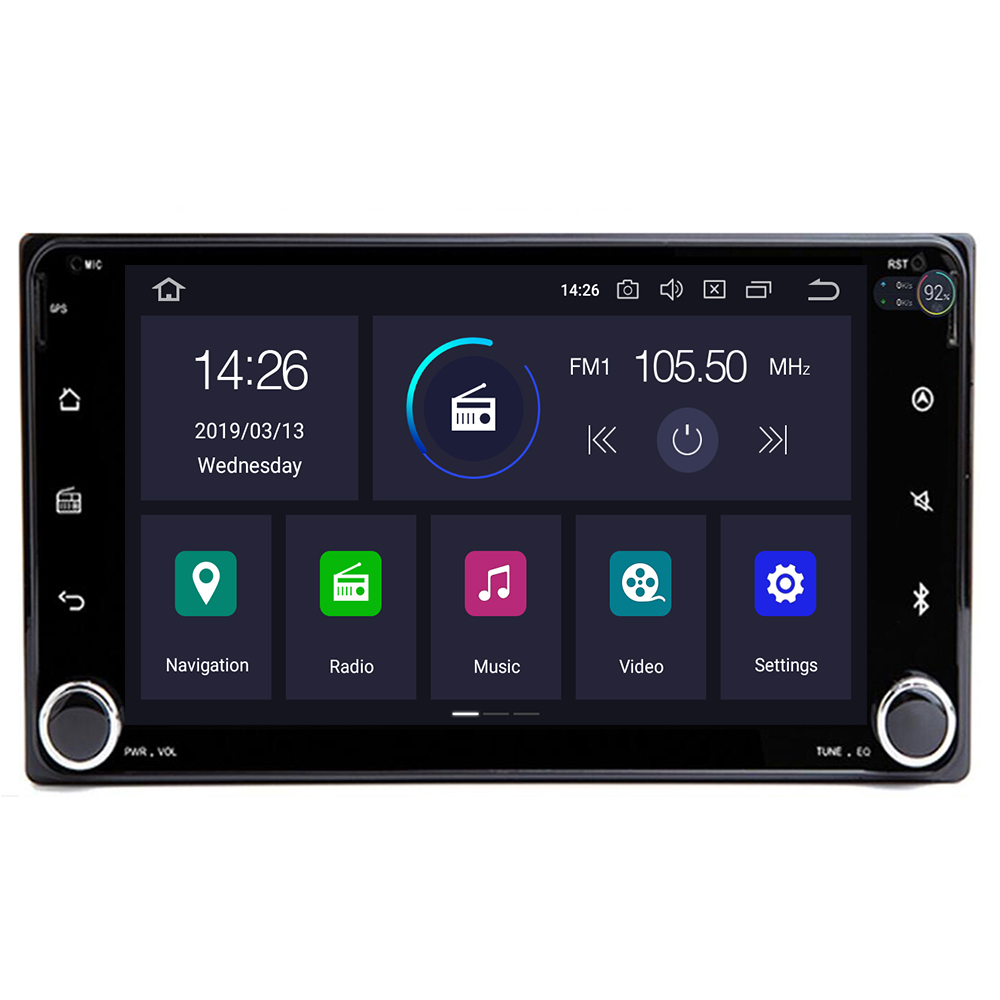 Autoradio 2 din Android9.0 Car DVD Multimedia Player For Toyota Land cruise <font><b>100</b></font> <font><b>200</b></font> prado120 150 RAV4 COROLLA Camry yaris Hilux image
