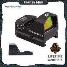 Векторная оптика Frenzy 1x17x24 Красный точечный прицел пистолет прицел IPX6 Водонепроницаемый подходит 21 мм Пикатинни Глок 17 19 9 мм AR15 M4 AK
