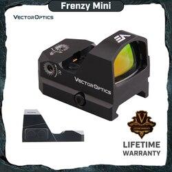 Vector Optics Razernij 1x17x24 Red Dot Scope Pistool Pistool Sight IPX6 Water Proof Fit 21mm picatinny GLOCK 17 19 9mm AR15 M4 AK