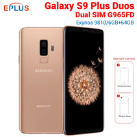 New Global 6.2 Samsung Galaxy S9 Plus S9+ Duos G965F/DS Dual SIM Mobile Phone Octa core G965FD 6GB 64GB 12MP 4G LTE NFC Phone