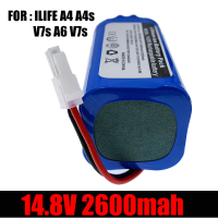 ILIFE-batería recargable de iones de litio para Robot aspirador, Original, 14,8 V, 2600mah, para iLife A4, A4s, V7s, A6, V7s Plus, novedad de 100%