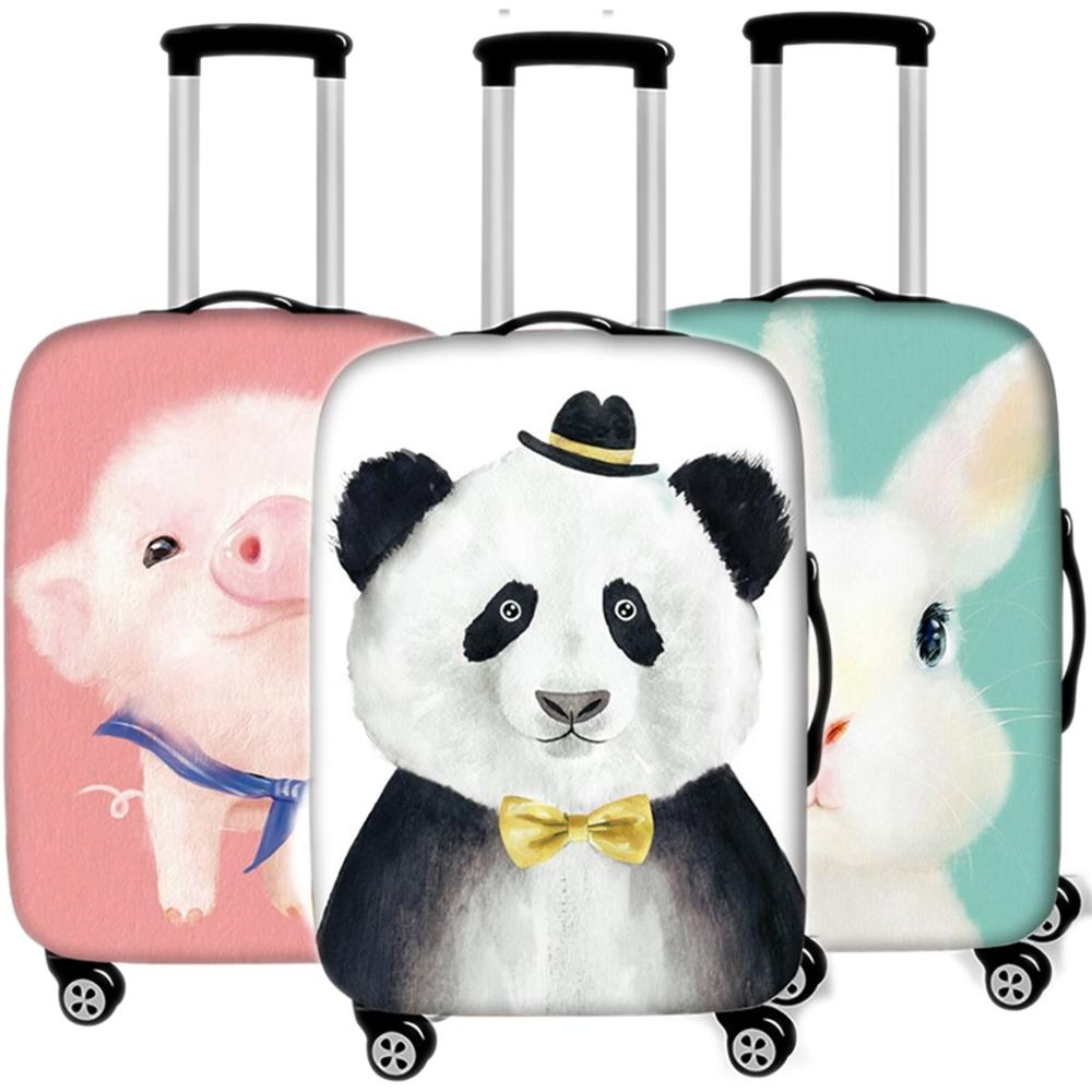 Cute Animals Cats Luggage Case Protective Cover Travel Accessories Waterproof Thicken Elastic Suitcase Trunk Case 18-32 Inch XL