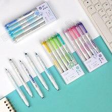 5 pçs/set colorido cabeça dupla redonda dot escova caneta cor sólida gradiente aquarela caneta pintura marcador acessórios suprimentos