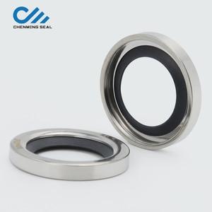 Image 1 - Ceimin 35*47*8mm אחת שפתיים פיר חותמות PTFE שמן חותם נירוסטה עבור חלקי חילוף מדחס