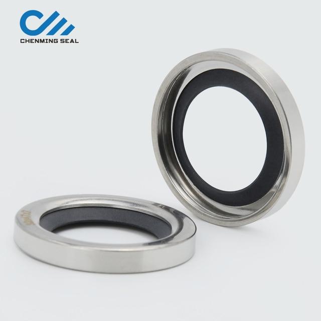 Ceimin 35*47*8mm אחת שפתיים פיר חותמות PTFE שמן חותם נירוסטה עבור חלקי חילוף מדחס