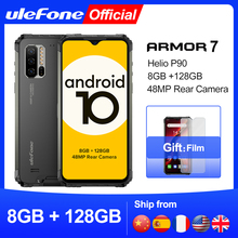 Ulefone Armatura 7 Rugged Mobile Phone Android 10 2.4G/5G WiFi 8GB + 128GB Helio p90 IP68 48MP CAM 4G LTE Versione Globale Smartphone