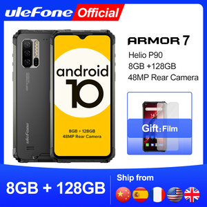 Image 1 - Ulefone Armor 7 – Téléphone portable robuste, smartphone version mondiale, Android 10, 2,4G/5 G, wifi, 8 Go + 128 Go, Helio P90 IP68, appareil photo 48 MP, 4G, LTE