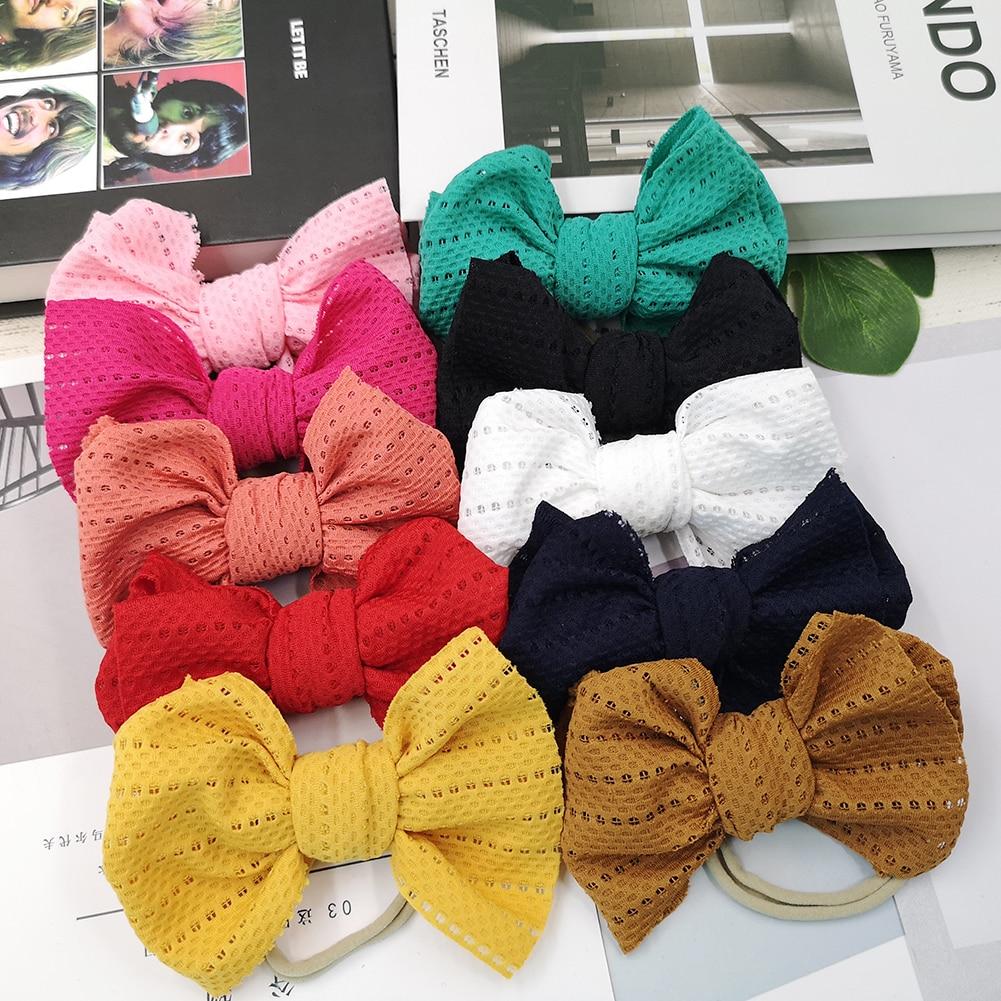 10 pcs lote bebe menina headbands new lace knot arcos adoravel oco elastico diademas crianca cocar
