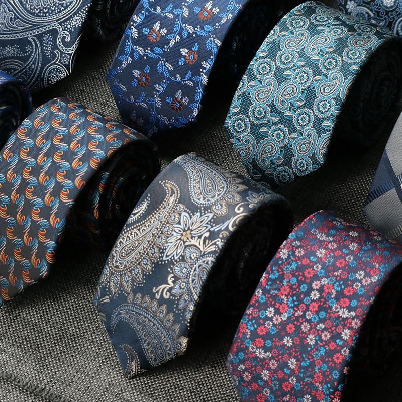 7CM Ties For Men Floral Necktie paisley gravata corbatas Formal Mens Ties Cravate Homme Gift For men tie Wedding Business Party