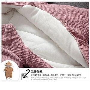 Image 5 - Ensemble de vêtements pour bébés, tenue dhiver froide, à capuche, pour nouveau né, ensemble de vêtements épais, barboteuse 40, décontracté