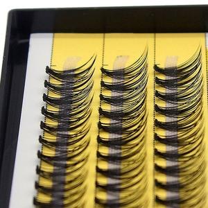 Image 5 - Kimcci 60 Bundles Mink Eyelash Extension Natural 3D Russian Volume Faux Eyelashes Individual 20D Cluster Lashes Makeup Cilia