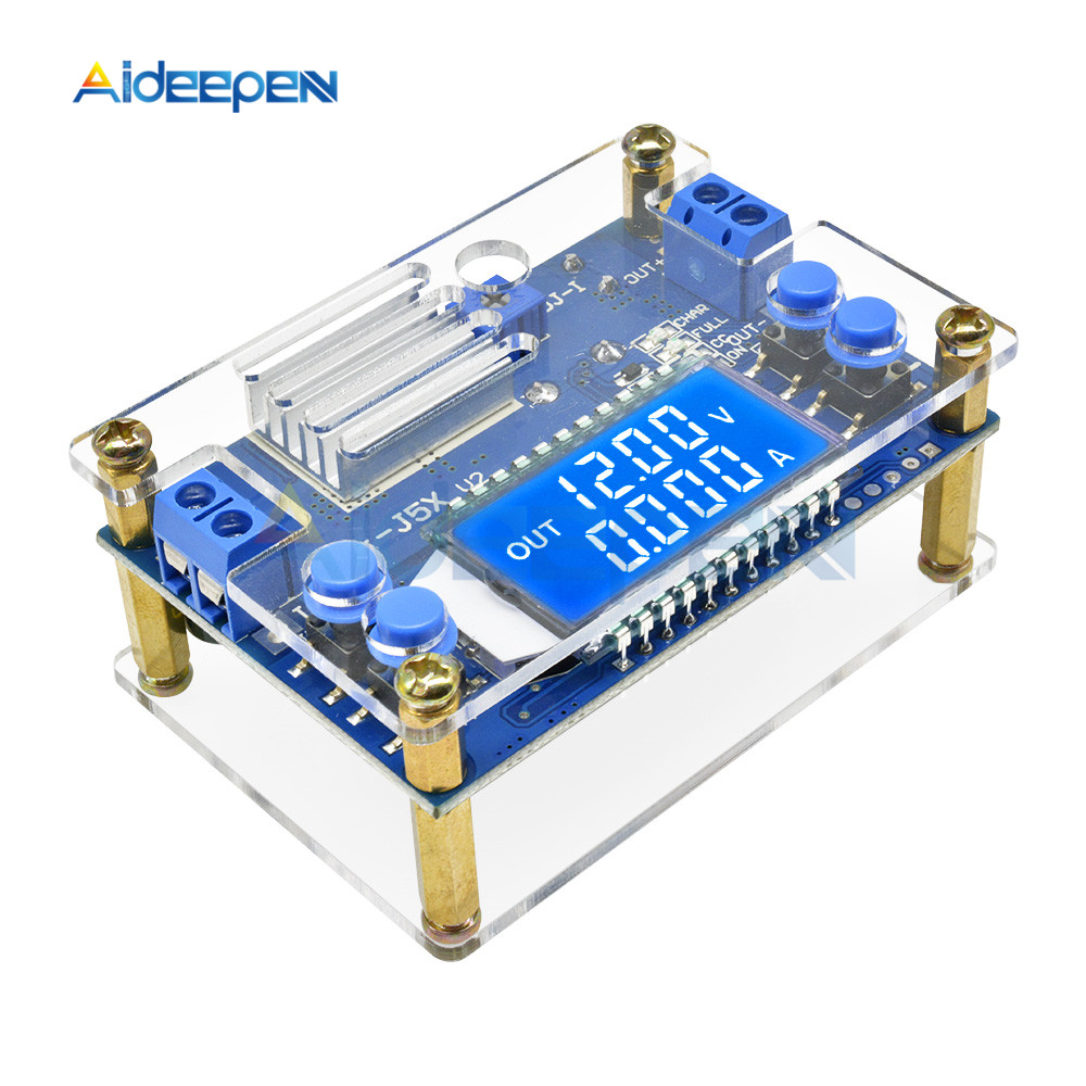DC-DC 5A CNC Step Down Module Adjustable Constant Voltage Current With LCD Dispaly 6.5-36V 6.5V To 36V Converter With Case