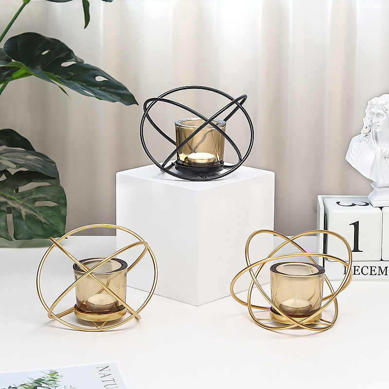 Fashion Geometric Iron Candlestick Wall Candle Holder Ornament Sconce Matching Minimalist Wedding Centerpieces Home Decor Gift Candle Holders Aliexpress
