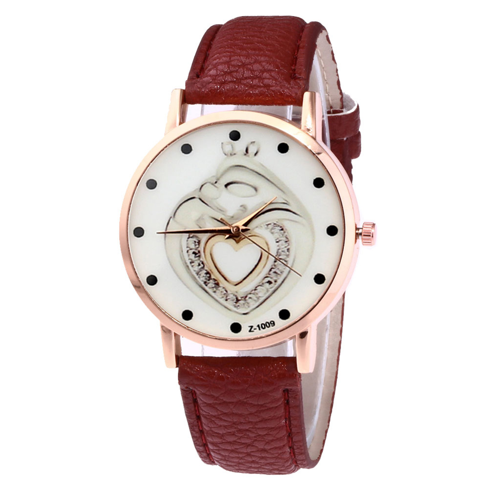 Couple Watches Simple Casual Watches Round Dial Faux Leather Strap Fashion Quartz Watches LL@17