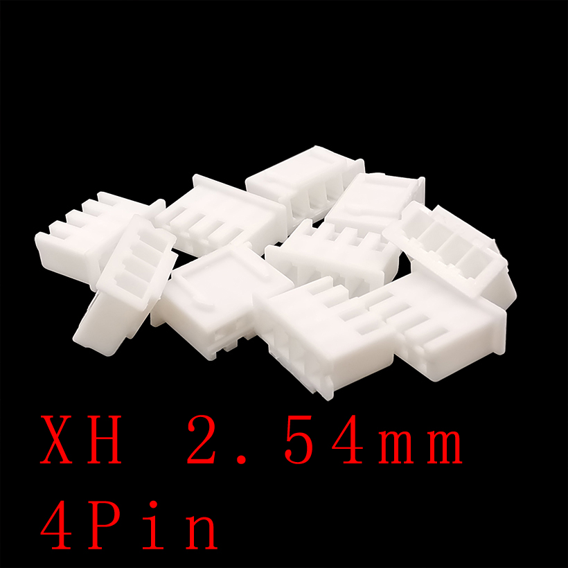 XH2.54-4P 4 Pin 4Y Wire Connectors <font><b>XH</b></font> <font><b>2.54mm</b></font> Spacing <font><b>2.54mm</b></font> Pitch Terminal Housing Plastic Shell Plug Socket Connector Holder image
