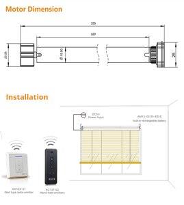Image 3 - USB Rechargeable Moteur de Store pour 25mm Tube Électrique Motorisé Store Abat Jour RF Télécommande Broadlink Contrôle