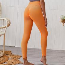 Legginsy damskie legginsy Push Up do ćwiczeń Mujer wysokiej talii odzież sportowa damskie pomarańczowe legginsy Fitness damskie tanie tanio Kostek STANDARD Dzianiny 554110 WOMEN Wysoka Na co dzień NYLON Stałe Osób w wieku 18-35 lat Leggings Women Workout Leggings
